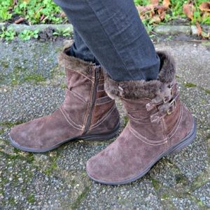 Earth Spirt Brown Faux Fur Boots